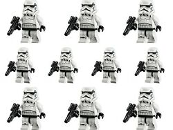 10 Star Wars Stormtroopers Minifigures Lot Army Set Building Brick Compatible $18.99