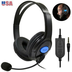 3.5mm Stereo Bass Surround Gaming Headset for PS4 New Xbox One PC with Micophone $14.99