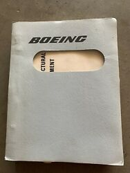 Vintage 1985 Boeing 747 Commercial Aircraft Structural Inspection Manual
