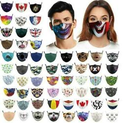 Mens Womens Kids 3d Funny Mouth Mark Fabric Facemask Washable Party Magic Gothic $4.73