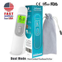 FDA Non Contact Infrared Forehead Thermometer MEDICAL Screening Baby Adult GRAY $29.99