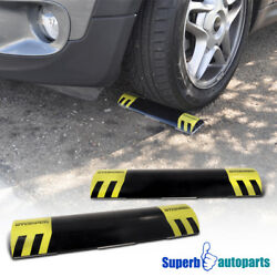 2 Pcs Car Stop Parking Assist Stopper Curb Garage Wheel Wedges $14.98