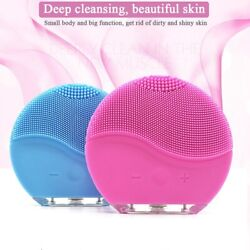 Silicone Electric Face Brush Facial Skin Cleaner Super Soft Sonic $10.99