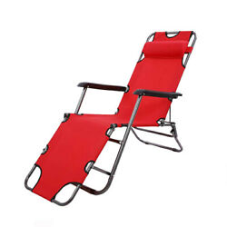Outdoor Folding Beach Sun Patio Chaise Lounge Chair Pool Lawn USA Reclining NEW $42.99