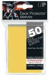 HCW Ultra Pro Deck Protector Sleeves 50ct Pack Gaming Cards Yellow C $4.25