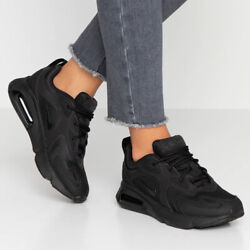 Nike Air Max 200 Triple Black AT6175003 Training Running Women#x27;s Shoes AUTHENTIC $89.99