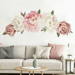 Flower Wall Stickers Peony Vinyl Wall Art Stickers Wall Decals Floral Sticker $3.99