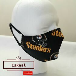 Pittsburgh Steelers face mask Adjustable made in USA FAST shipping $9.99