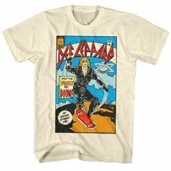 Def Leppard Comic T Shirt Mens Licensed Rock Band Tee Retro New Vintage White $18.99