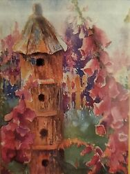 Toland quot;Fox Gloves amp; Birdhousesquot; decorative 11 x 14.5 garden size flag $11.75