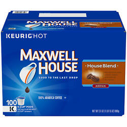 Maxwell House House Blend K Cup Coffee Pods 100 ct. FREE SHIPPING $26.38