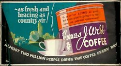 THOMAS J. WEBB COFFEE ... AS FRESH AS AIR c1925 original Trolley Card poster $100.00
