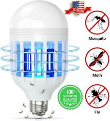 Bug Zapper LED Light Bulb Mosquito Lamp Fly Trap Killer Indoor Outdoor Insect US $8.49
