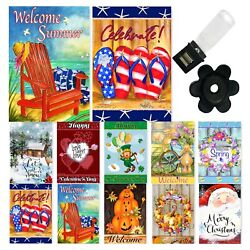 Garden Flag Set of 10 12x18 Inch Double Sided Yard Flags $20.99