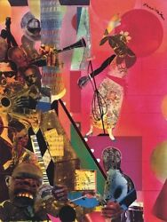 The Blues 1974 by Romare Bearden Art Print Jazz Music Museum Poster 11x14