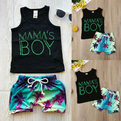 Toddler Baby Kids Boys Clothes Outfits Sets Infant Boy Summer T-Shirt + Shorts $9.59