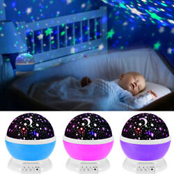 Starry Night Sky Projector Lamp Moon Star Light Rotating Cosmos Kids Baby Gift $12.99