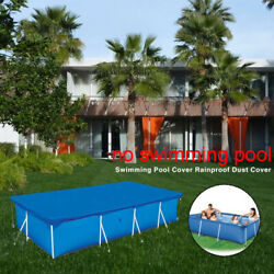 Rectangular Swimming Pool Cover Dust-proof UV-resistant Dustproof Protect Cover $39.99