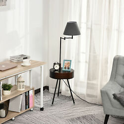 HOMCOM Multifunctional Floor Lamp With Table Extendable and Retractable Arm $82.99