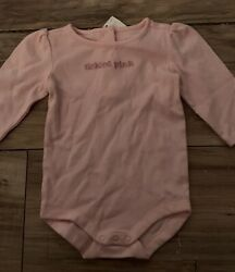 Gymboree Pretty Poodle Girls Bodysuit Shirt Size 3 6 Months Tickled Pink Nwt $6.99