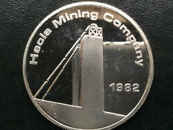 1982 Hecla Mining Co. Commercial Silver Medal A2667 $97.00