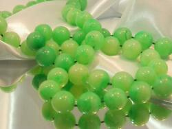 Classy Long Light Green Marble Swirl Lucite Vintage 70#x27;s Pretty Necklace 780My0 $21.49