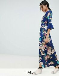NEW PARISIAN TALL FLORAL PRINT MAXI WRAP OVER DRESS OCCASION SUMMER LOOK UK 10 $31.28