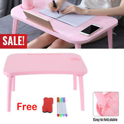 Portable Folding Laptop Desk Adjustable Computer Outdoor Table Tray for Bed Sofa $25.59