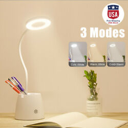 USB Rechargeable Dimming Reading Light LED Touch Sensor 3 Mode Desk Table Lamps $19.99