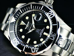 Invicta Mens 300M Grand Diver Automatic Classic Black Dial Stainless Steel Watch $97.99