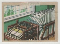 Early Silk Screen Printing Press And Process Vintage Ad Trade  Card $4.99