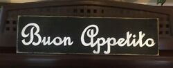BUON APPETITO Italian Kitchen Dining Room Sign Tuscany Wood UPik Color Plaque HP $26.95