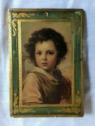 Vintage Figure on Wood~ Gilded Edge~Made in Italy~ 4