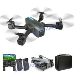 Selfie Drone 4K GPS HD Dual Camera 5G Foldable Aircraft RC Quadcopter +2 Battery $119.99