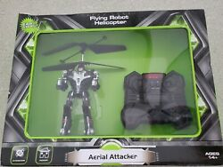 Aerial Attacker Flying ROBOT Helicopter RC RF 2 Channel Lights amp; Sound NEW $34.65