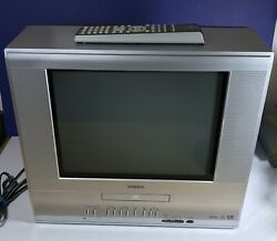 Toshiba MD14F11 14quot; CRT Color TV DVD w AUX Gaming TV Flat Television w Remote $98.99