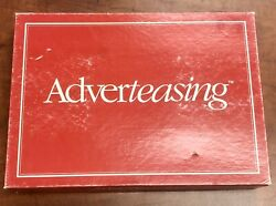 Vintage 1988 Adverteasing The Game Of Slogans Commercials & Jingles Board Game $12.00