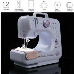Portable Electric Sewing Machine Double Speed 12 Stitches Household Tailor NEW $69.99