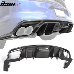 Fits 15-17 Ford Mustang S550 Coupe JC Style Rear Diffuser Spoiler Carbon Fiber $769.99