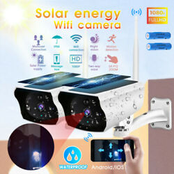 Outdoor Solar Wireless WiFi Security IP Camera 1080P HD Waterproof Night Vision $60.99