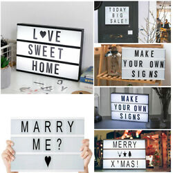 84pcs A4 Cinematic Light Up Sign Box Cinema LED Letter Party Wedding Lamp Decor $8.99