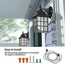 DEWENWILS Outdoor Wall Light Exterior Dusk to Dawn Wall Sconce Photocell HOWL06A