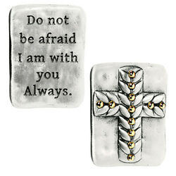Grasslands Road Cross in My Pocket Charm Token quot;I Am With You Alwaysquot; New in Pkg $5.95