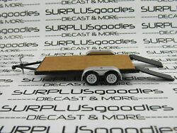 Greenlight 1:64 Scale LOOSE Black Trailer Farm Car Flatbed Hauler Tow wRamps $6.95