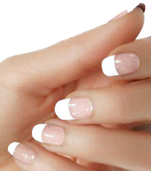 White French one piece clear overlay color nail polish strips M155 street art $5.20