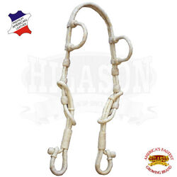 C-2-HS Hilason Western Horse Two Ear Headstall Bridle American Leather Rawhide $60.00
