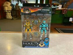 2011 McFarlane Halo Reach UNSC AIRBORNE 2 Pack Figure Set NIB $60.00
