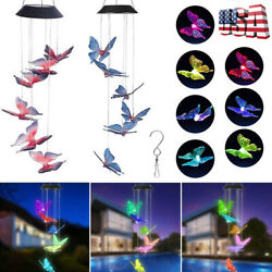 Solar LED Butterfly Wind Chime Color-Changing Light Yard Garden Decor Best Gift $11.99