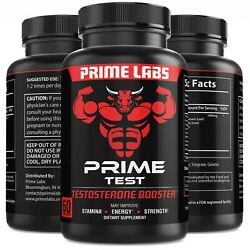 #1 Testosterone Booster Stronger than Granite Natural Test Boost 60 Capsules $12.99