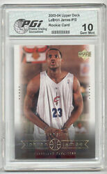 2003 Upper Deck LeBron James PGI 10 Lakers Rookie Card #10 $49.95